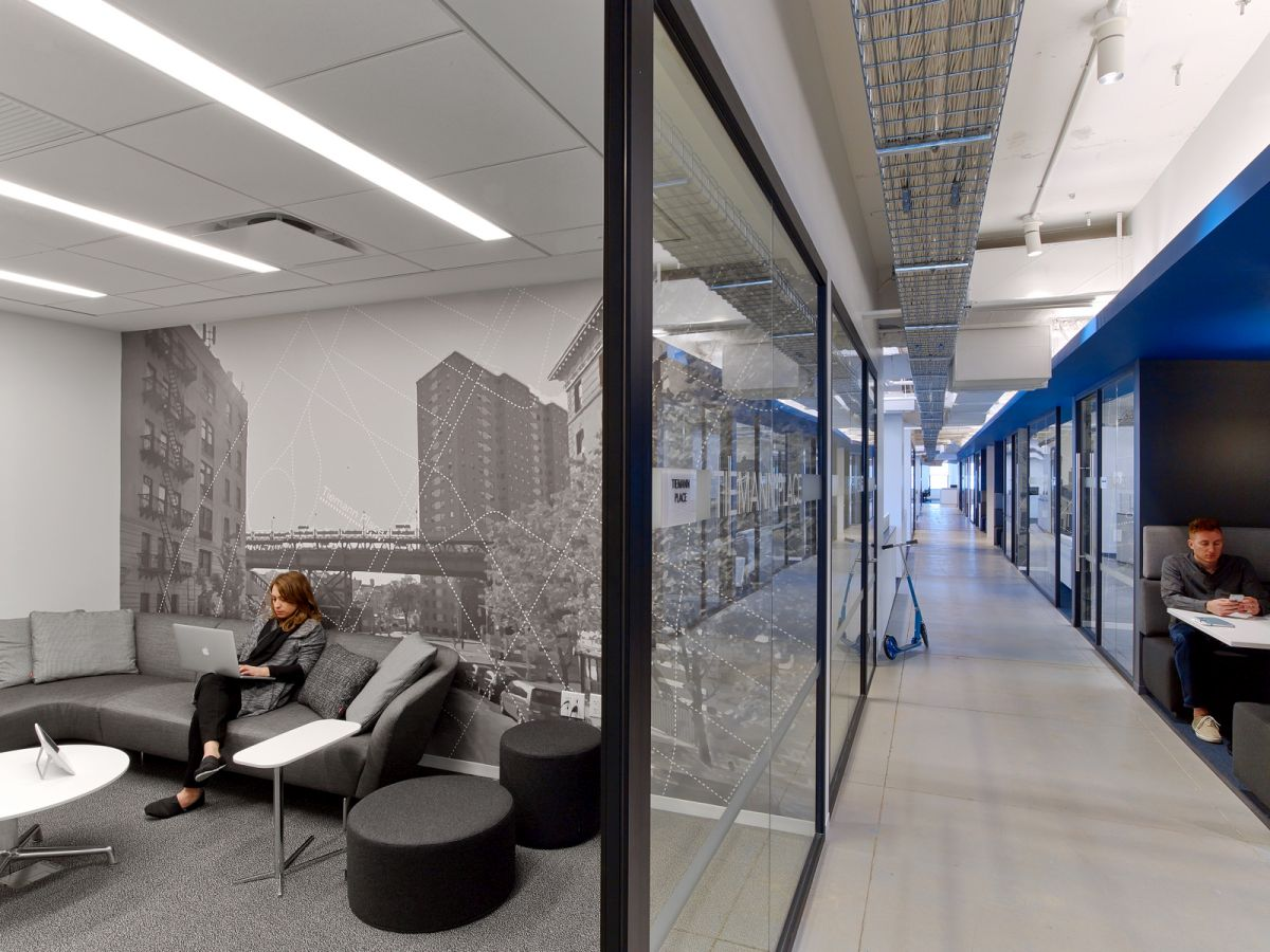 LinkedIn New York Office meeting room wall decor