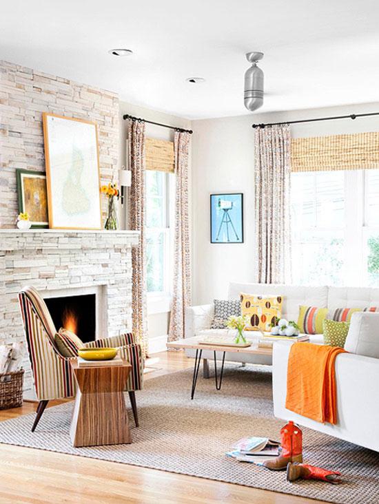Living room longer curtains