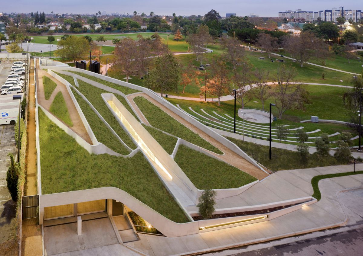 Los Angeles Museum of the Holocaust from Belzberg Architects Top Roof