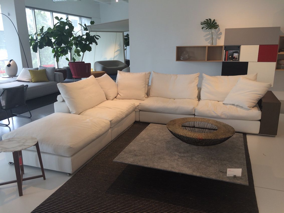 Also from Luminare is this sectional sofa and large coffee table, both built for comfort and utility in your living rom.