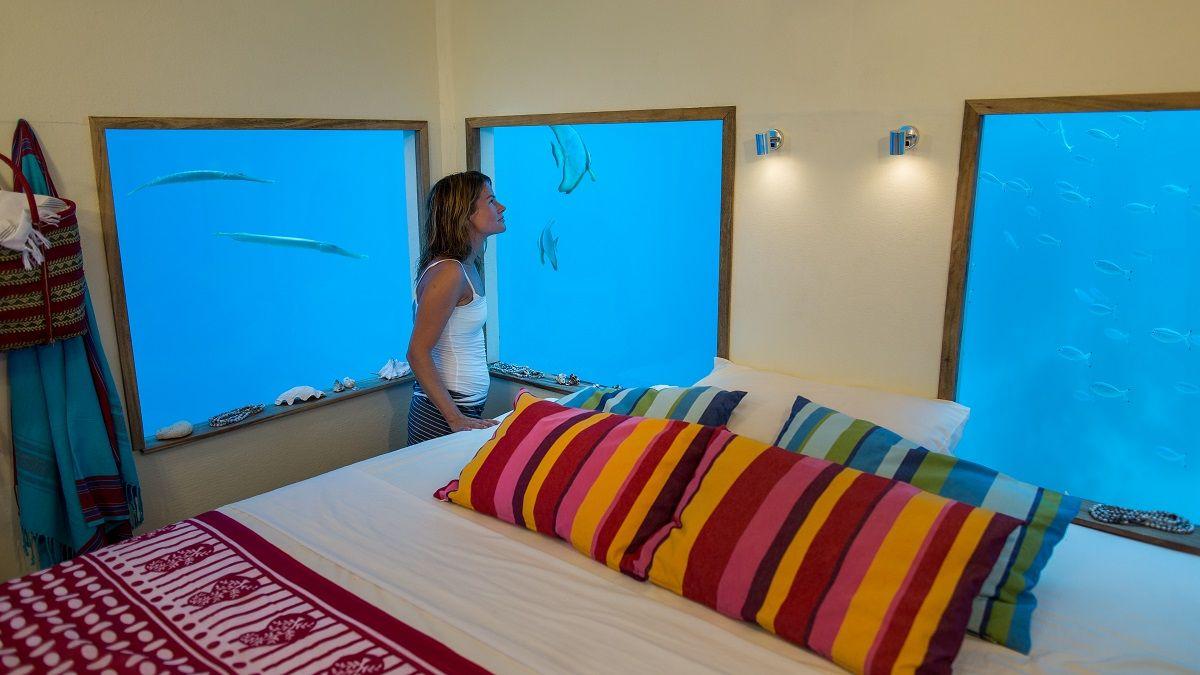 Manta Unterwasserschlafzimmer