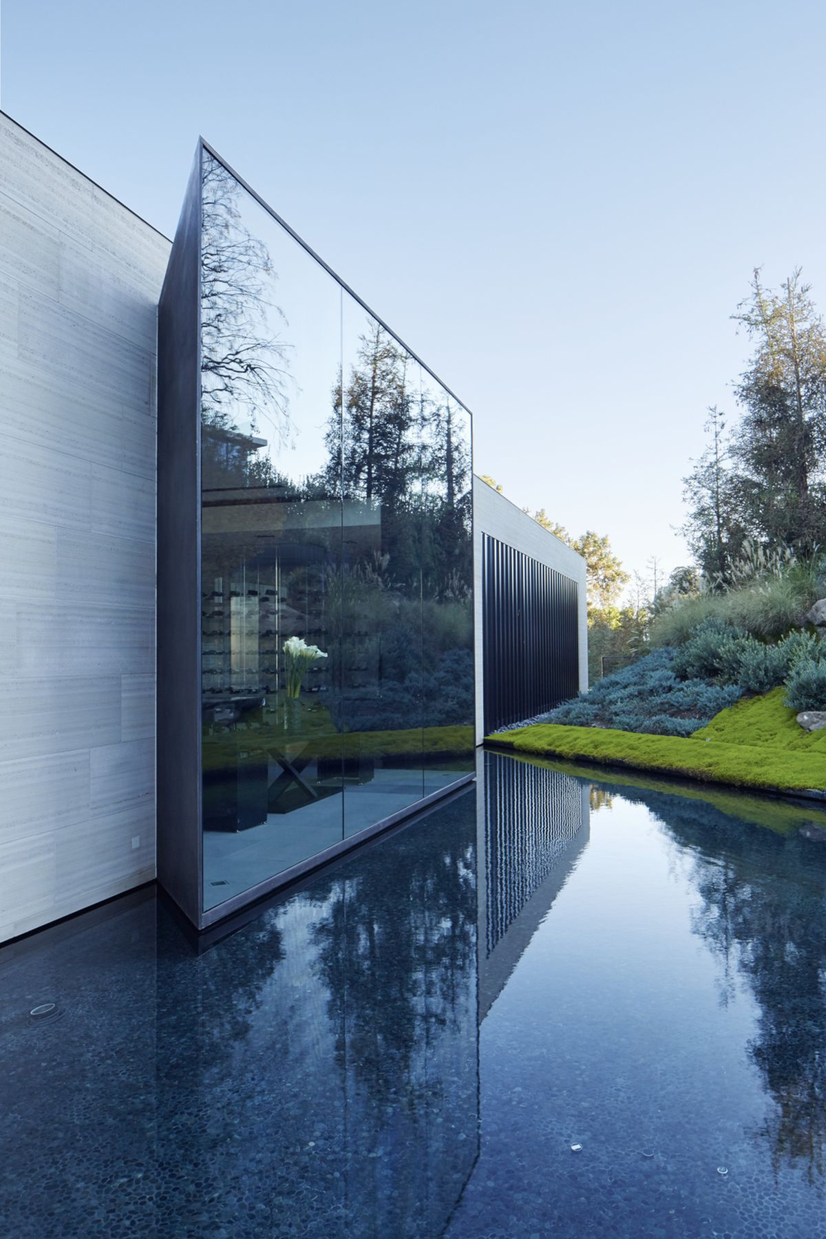 Michael Bay villa in Los Angeles pool reflection and landscape