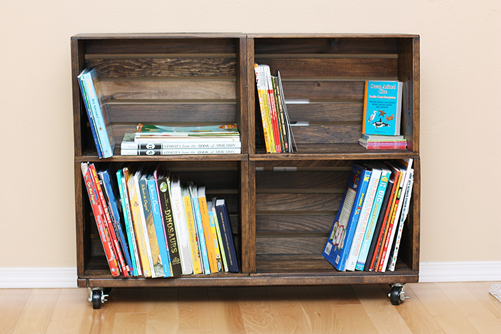 Mini Bookcase On Wheels