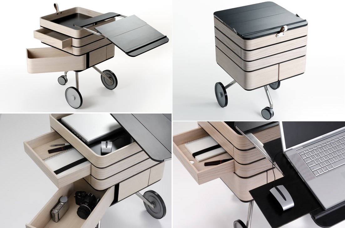 Mobile desk workstation