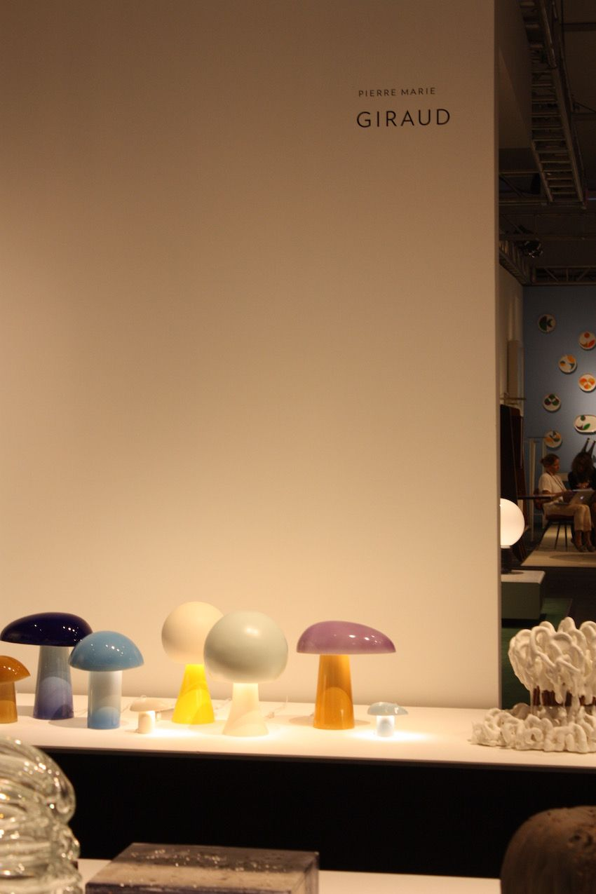 Each mushroom lamp by Devriendt is one of a kind and were reportedly created during his long study of the mushroom form.
