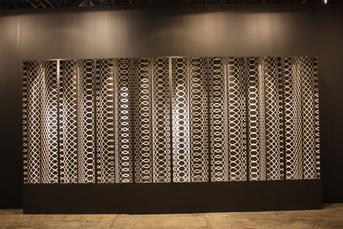 Nara Roesler Mirrored optical wall