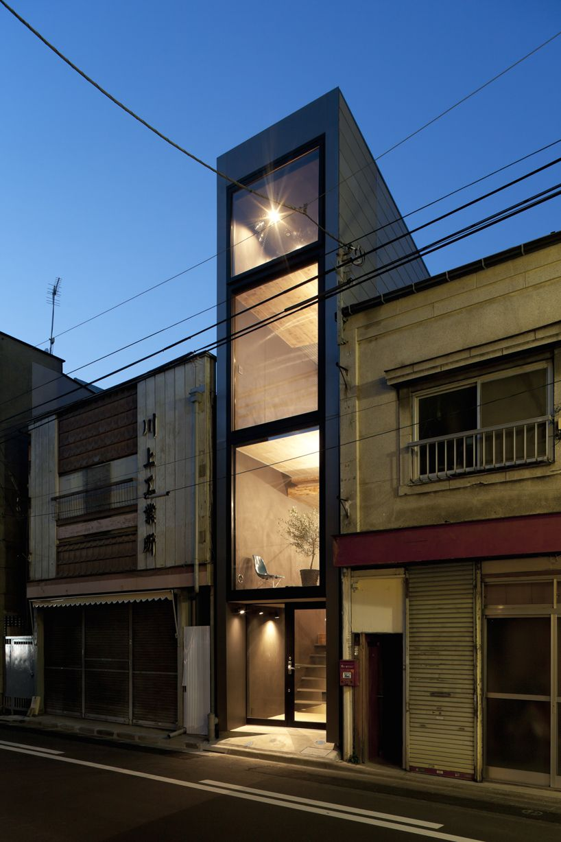 Narrow 1.8m house by YUUA architects Between buildings