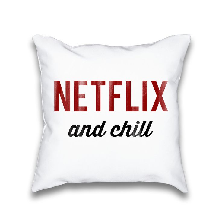 Netflix throw pillow