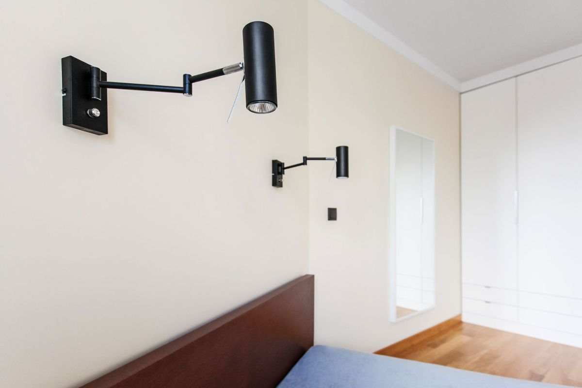 Open apartment by modelina bedroom wall sconces