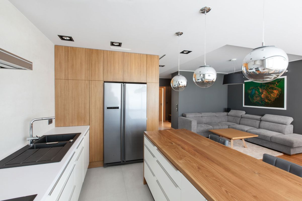 House Design Keuken : Open apartment uses wood to define its interior spaces