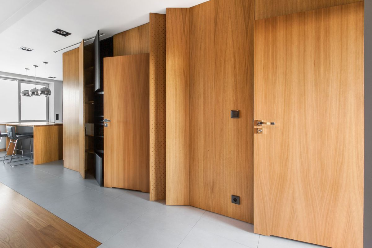 Open apartment by modelina living room unit open doors