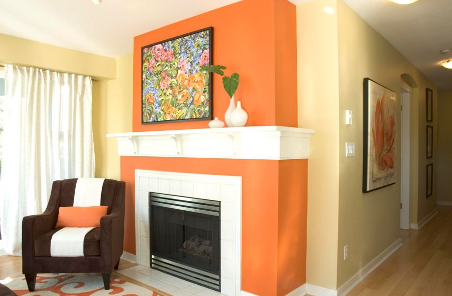 Orange Fireplace Design