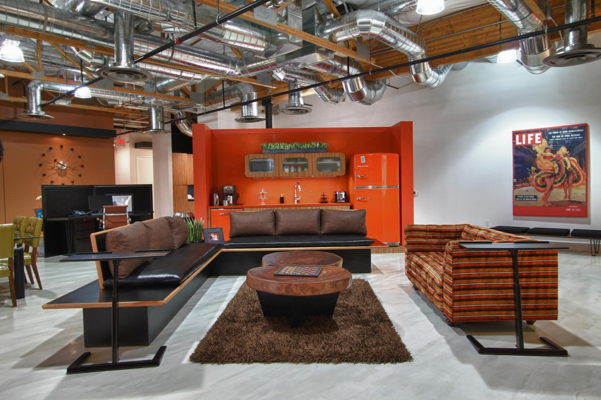 Orange open space design