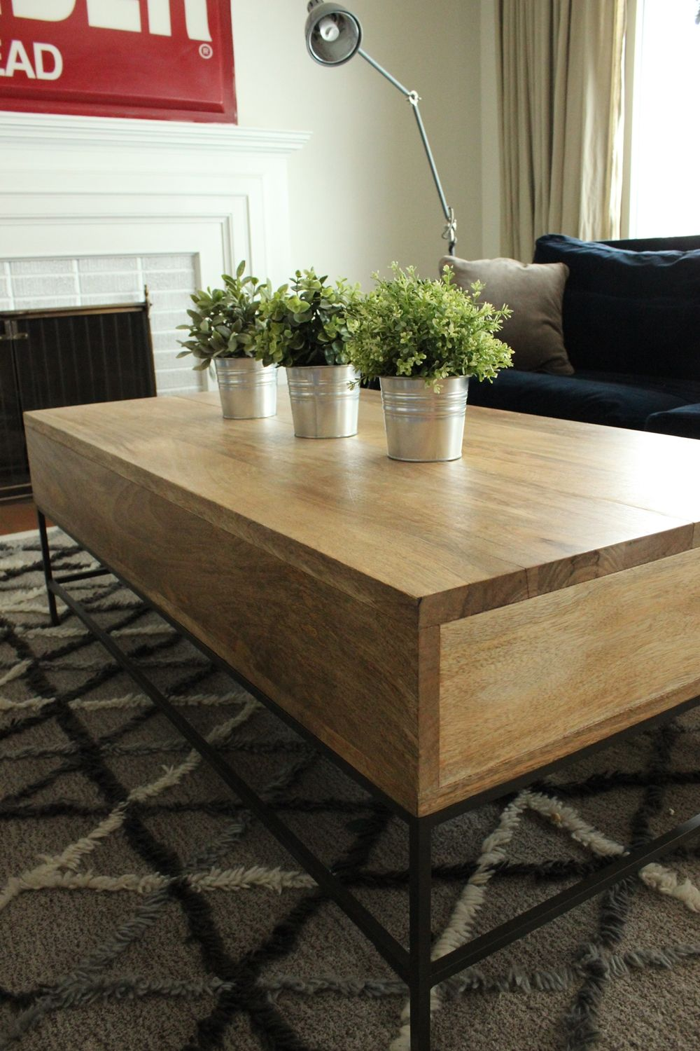 Organi plants to style a coffee table