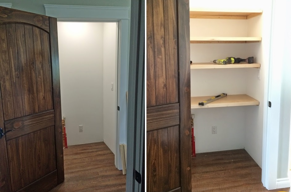Pantry Closet Shelves