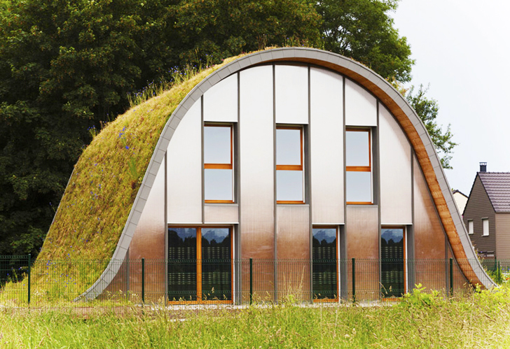 Patrick Nadeau Green-Roofed Wave Home Front