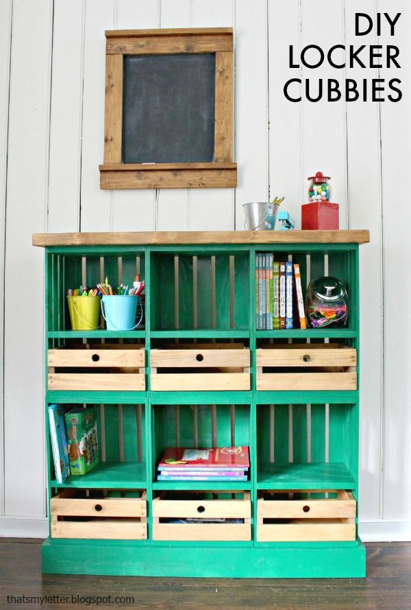 Playroom Locker Cubbies