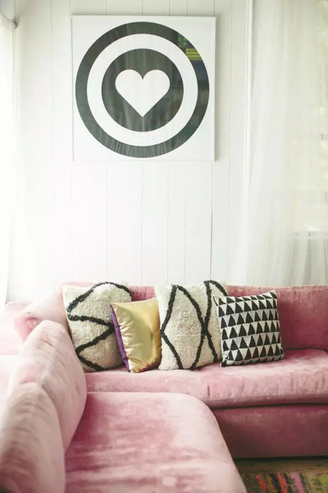 Rose quartz couch