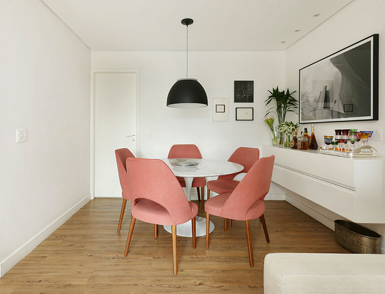 Rose quartz dining room chairs