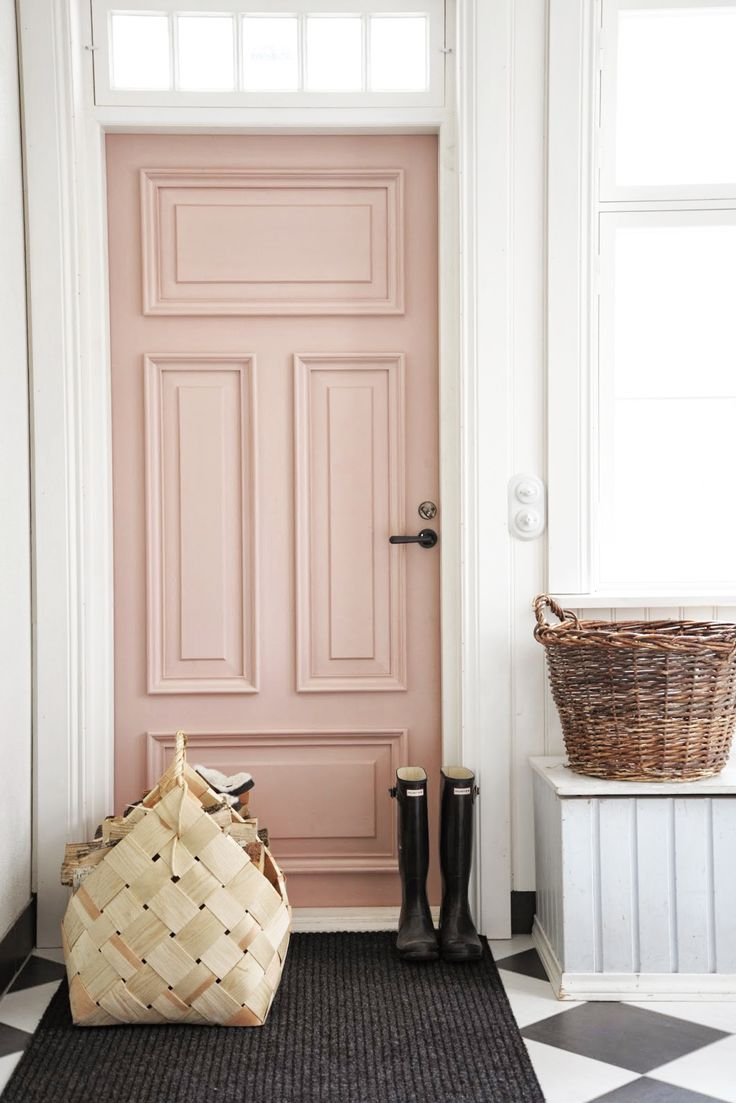 Rose quartz front door