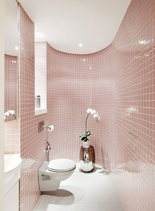 Rose quartz tile