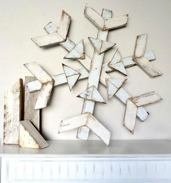 Rustic wood snowflake