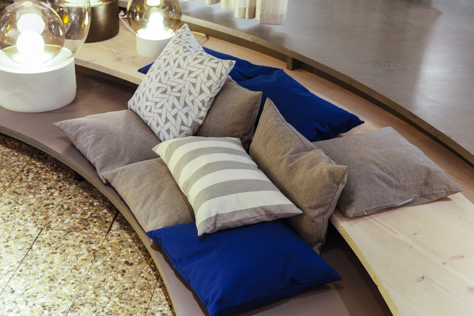 Floor pillows for a full comfort
