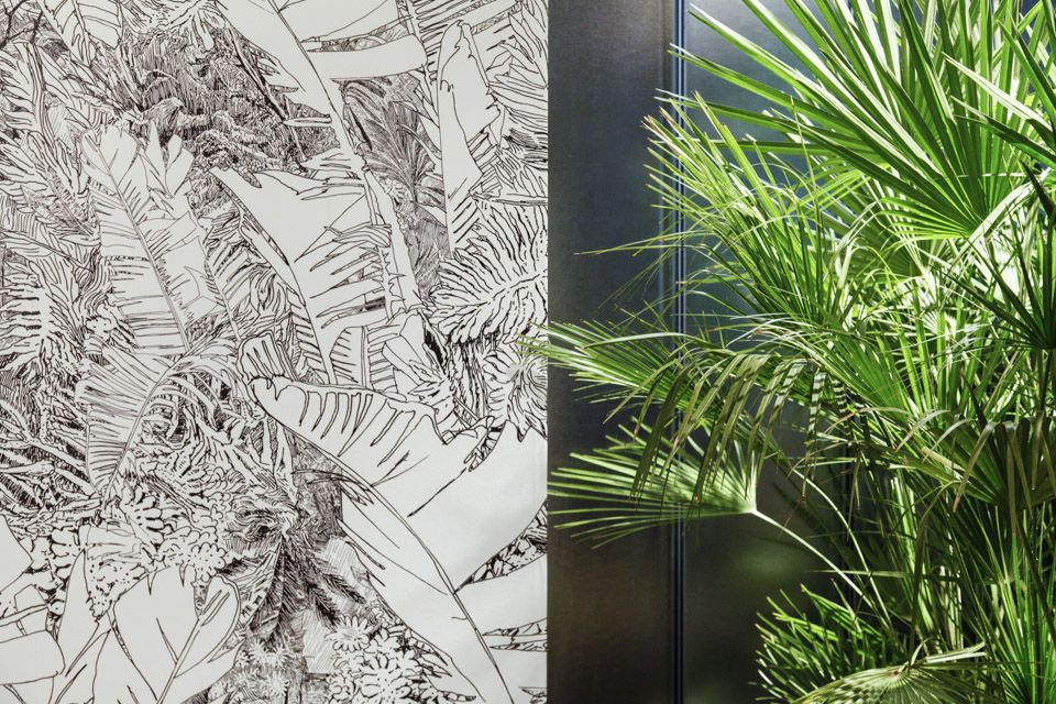 Jungle wallpaper by Tiphaine de Bodman at Petite Friture