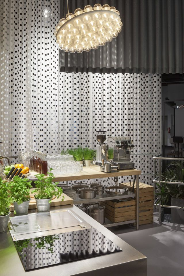 The steel and solid wood kitchen