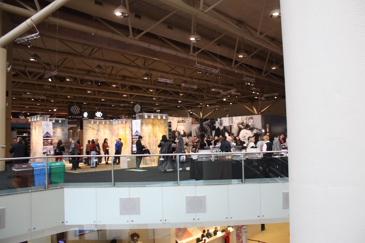 The second level of the Toronto Convention Center was filled with exhibits, all surrounding a main stage presented by Caesarstone.