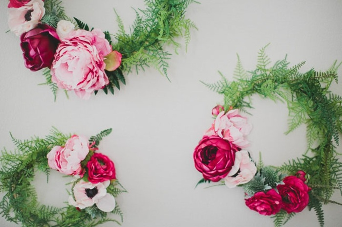 Silk flower wreaths