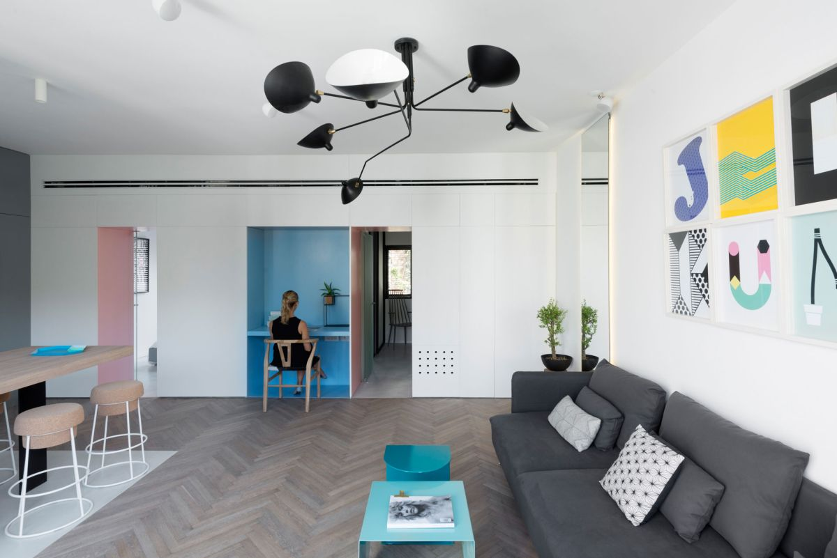 Merveilleux Small Apartment Refreshed With Color And A New Interior Design