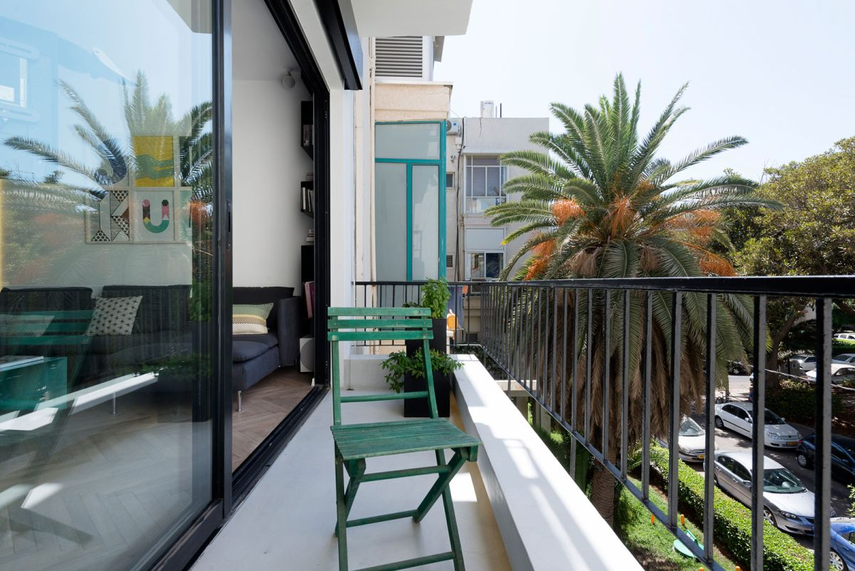 Small apartment remodel in Tel Aviv view from balcony