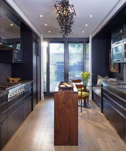 Small black kitchen
