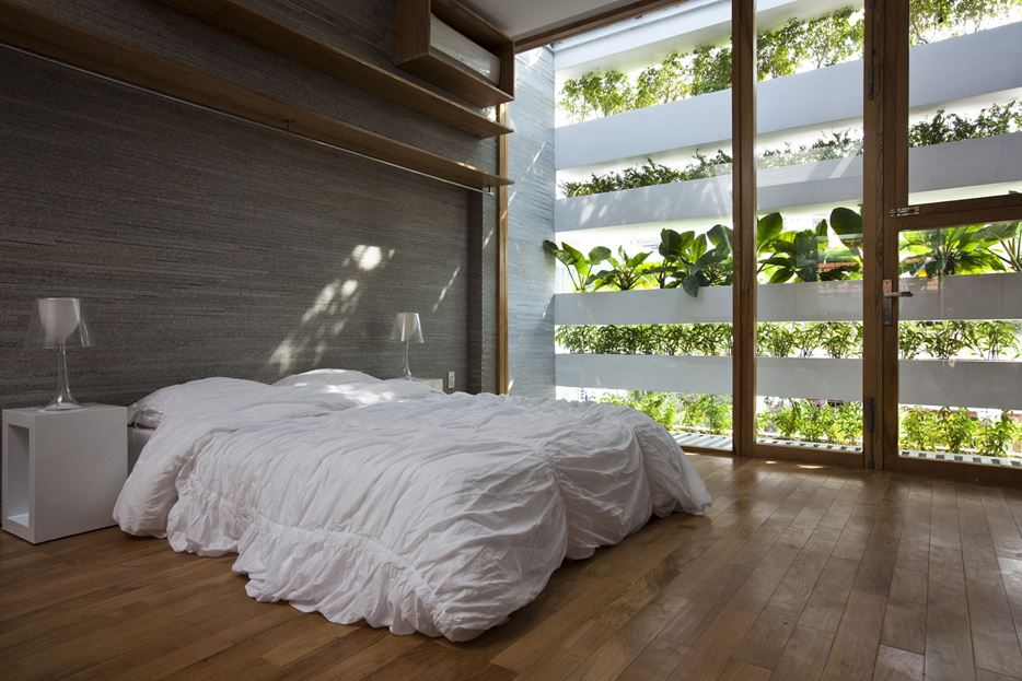 Stacking green bedroom