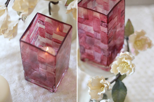 Stained glass votive