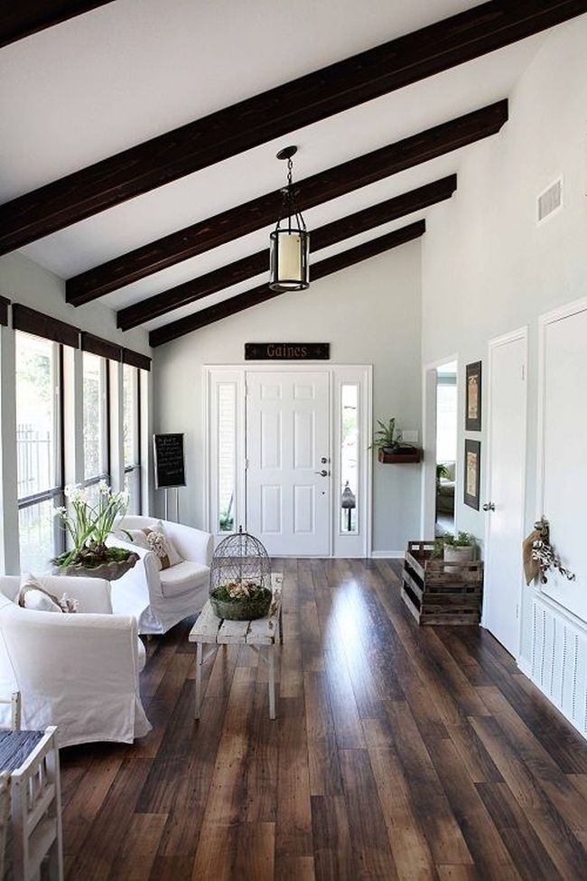 Expose your rusticity with exposed beams for Half vaulted ceiling with beams