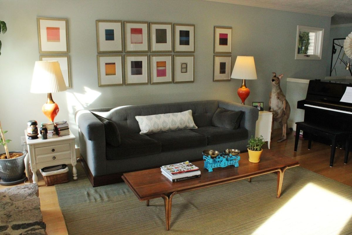 Style the coffee table with books