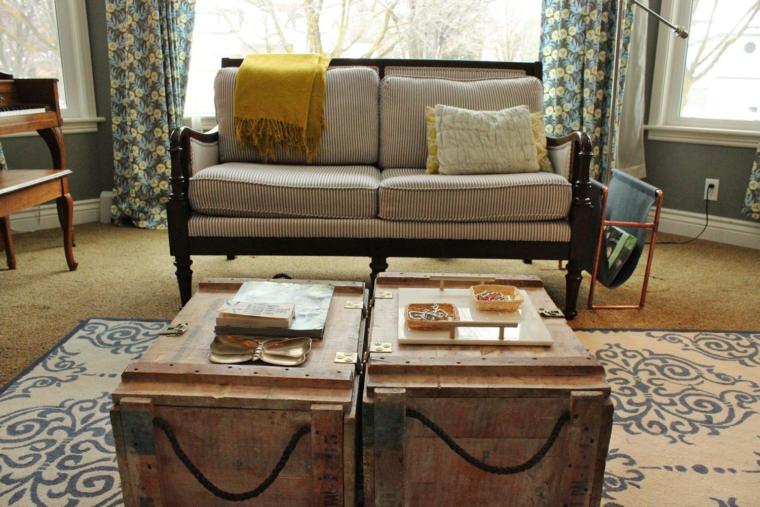 Style these preatty trunk tables