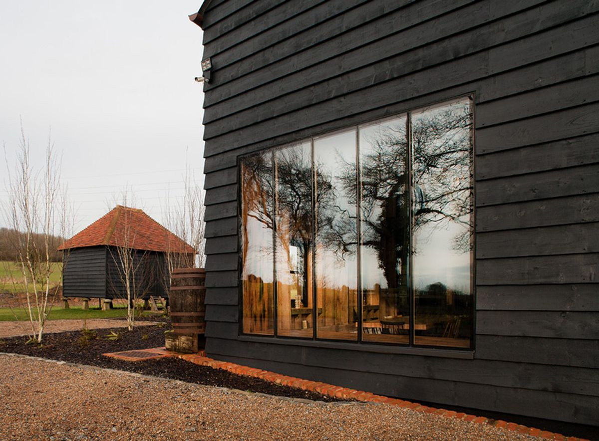 The Ancient Party Barn conversion large windows
