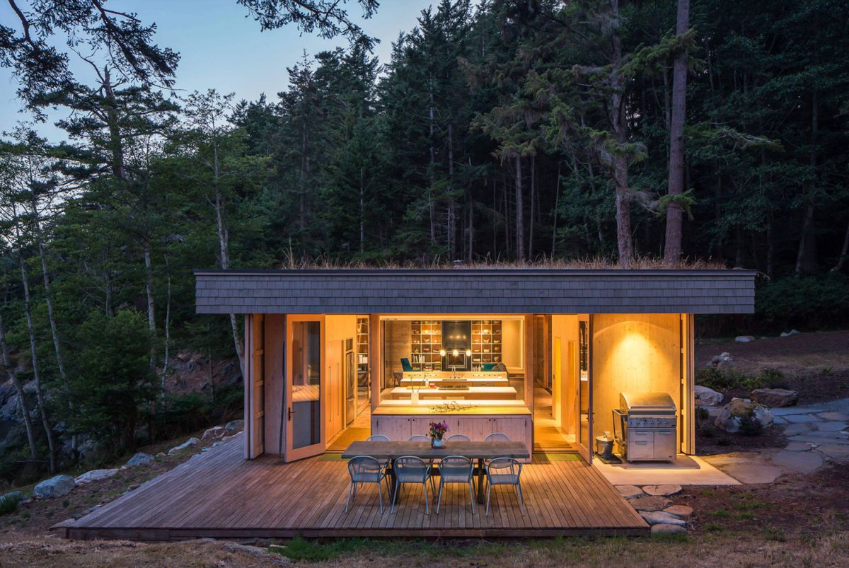 The Lone Madrone retreat architecture overall