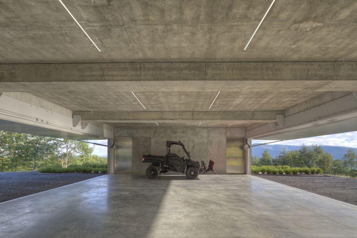 The Shokan House concrete garage