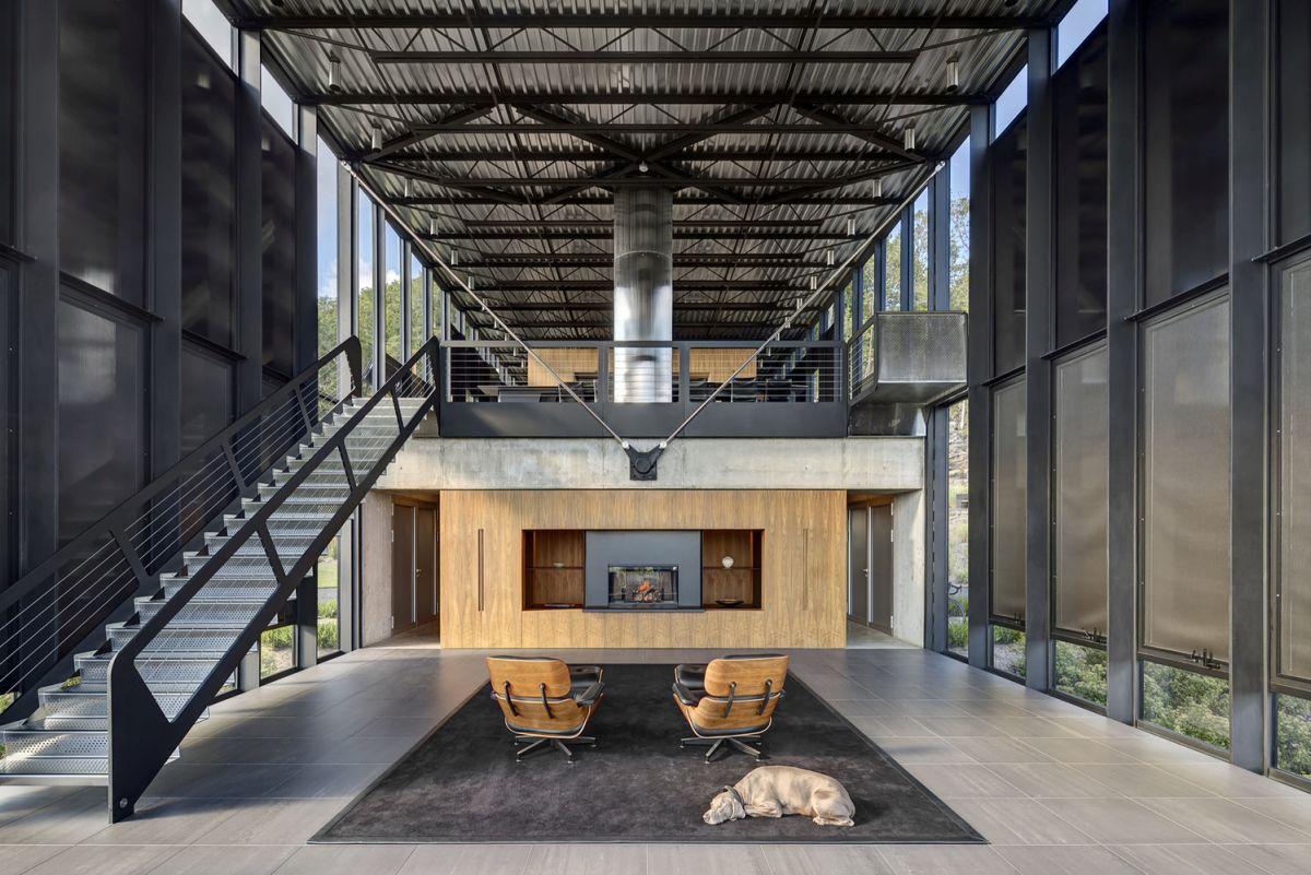 The Shokan House living room overall