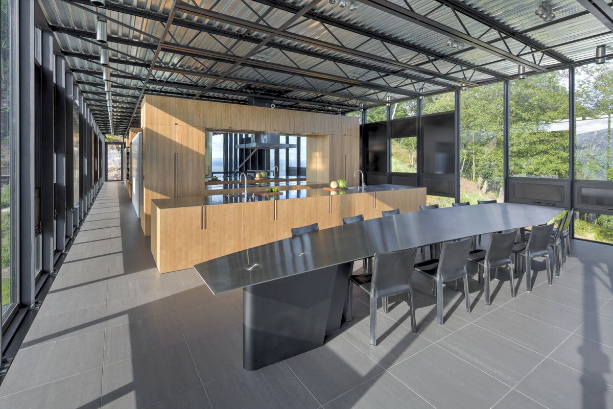 The Shokan House social area floor plan
