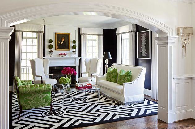 Geometric Designs And Patterns Are Typical Of Modern Interiors