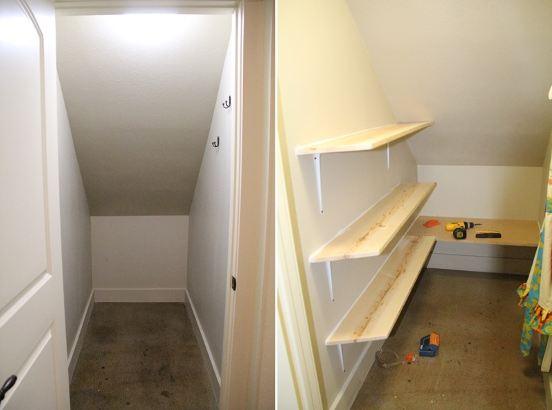 How To Turn Closet Under Stairs Into Office Image Bathroom 2017