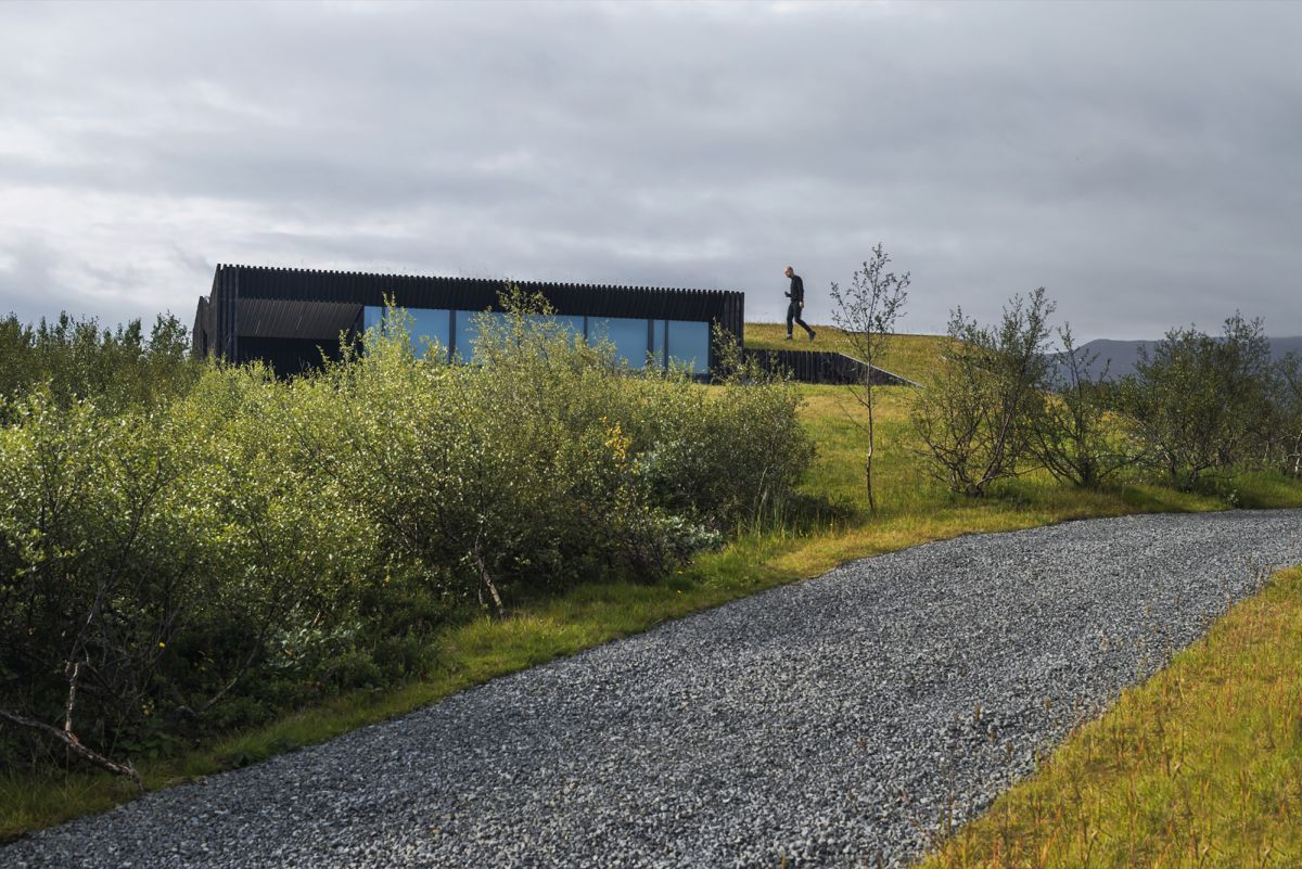 Vacation cottage in Iceland Green Roof View