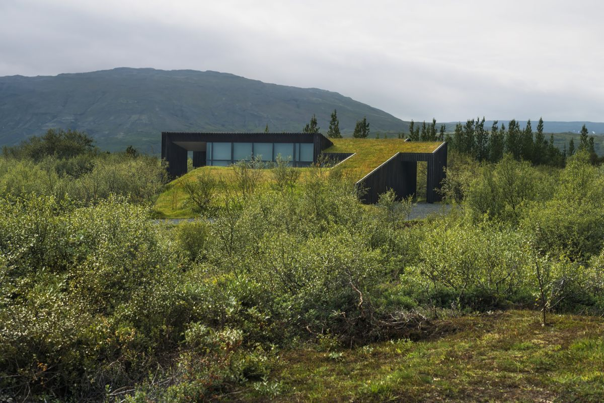 Vacation cottage in Iceland Green Roof