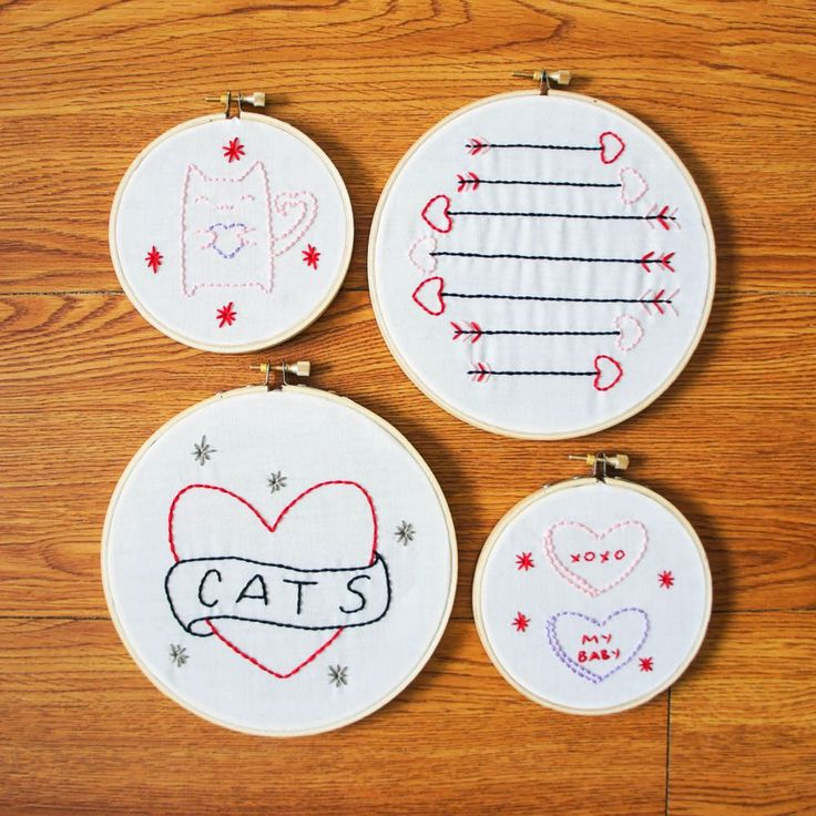 Valentine embroidery art