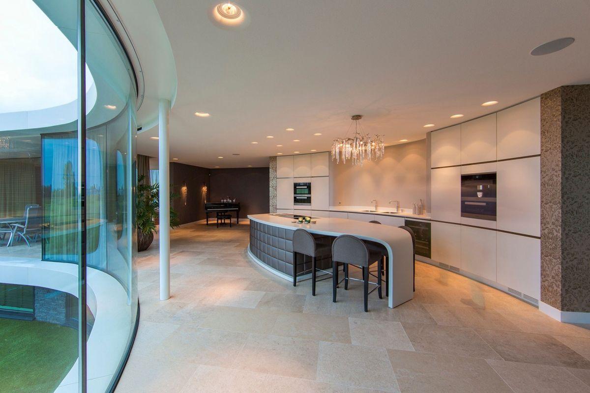 Villa New Water by Waterstudio.NL kitchen island